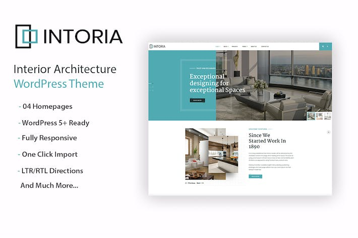 Thumbnail for Intoriza - Innenarchitektur WordPress Thema