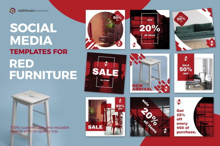 Thumbnail for Red Furniture Media Banners