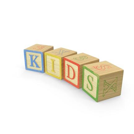 Bloques de letras para Niños