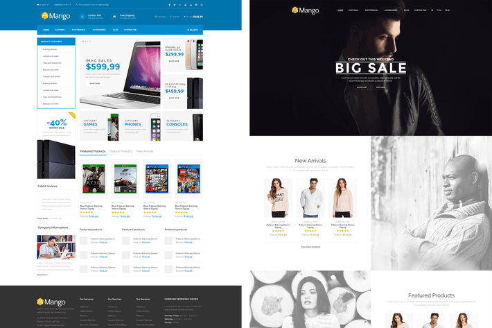Thumbnail for Mango - Responsive Magento Theme
