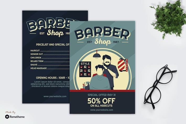 Thumbnail for Barber Shop - Creative Flyer GR