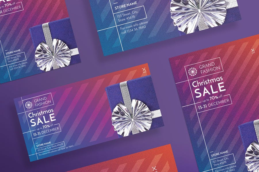 Christmas Shop Sale Flyer and Poster Template