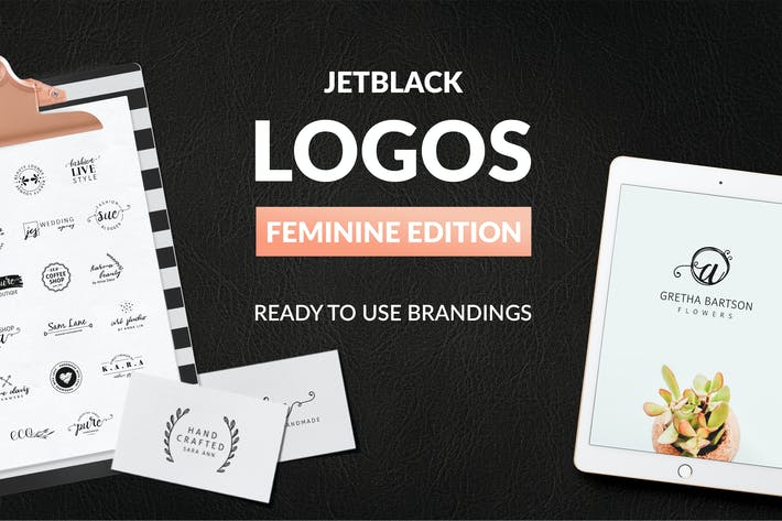 Thumbnail for 30 Premade Logos – Feminine Edition