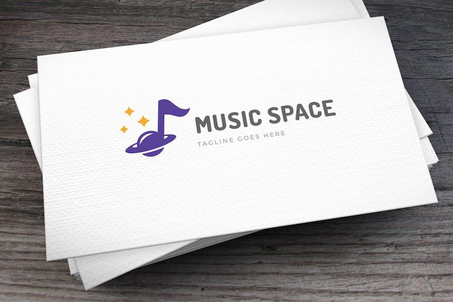 Musik-Space-Logovorlage