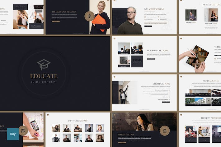 Thumbnail for Educate - Education Keynote Template