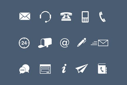 15 Contact Icons