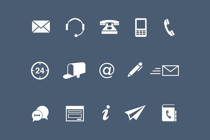 Thumbnail for 15 Contact Icons