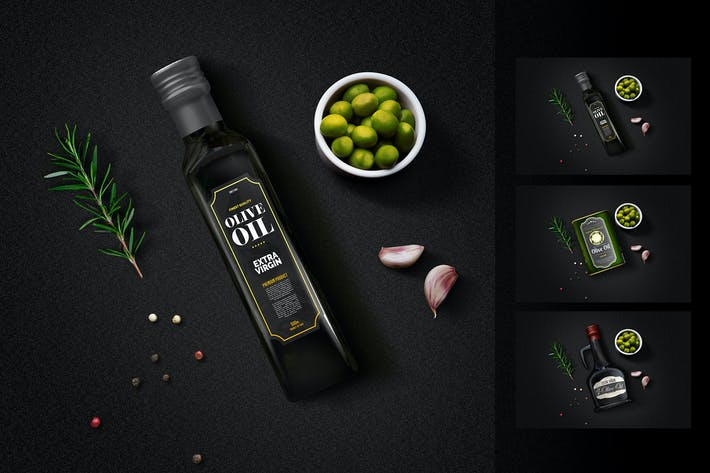 Thumbnail for Olive Oil Minimalist Package Mockup