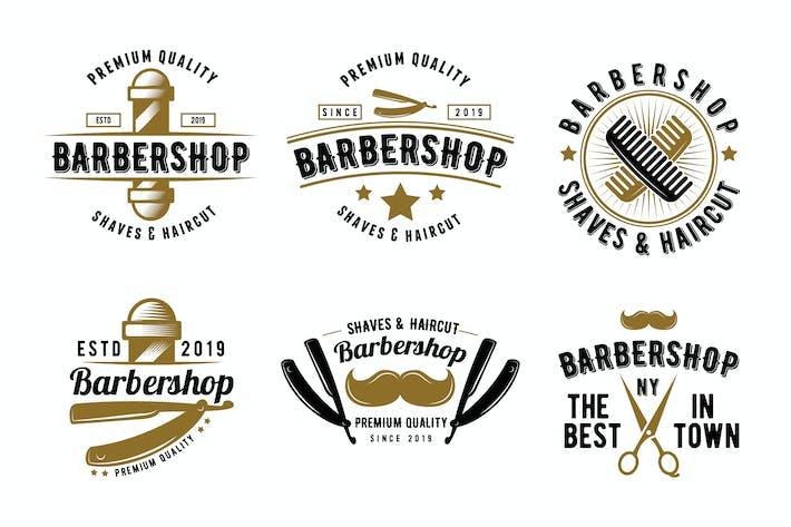 Thumbnail for Retro Barbershop Emblem Logo Badge