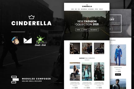 Cinderella - E-commerce Responsive Email Template