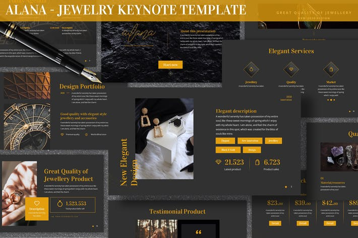 Thumbnail for Alana - Jewelry Keynote Template