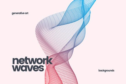 Network Waves Backgrounds