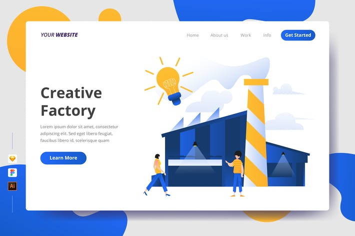 Thumbnail for Creative Factory - Landing Page