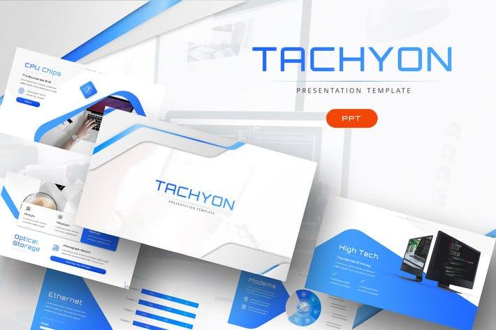 Thumbnail for Tachyon - IT Company Powerpoint Template
