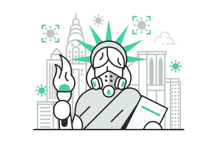 Thumbnail for New York and USA on Quarantine Concept