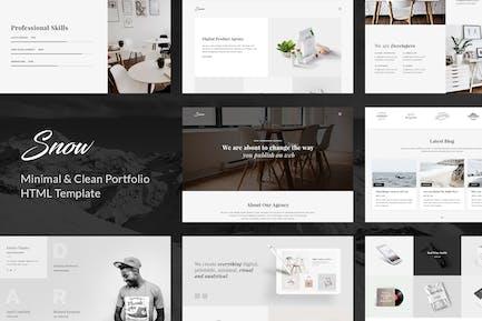 Snow - Minimal & Clean HTML Portfolio Template