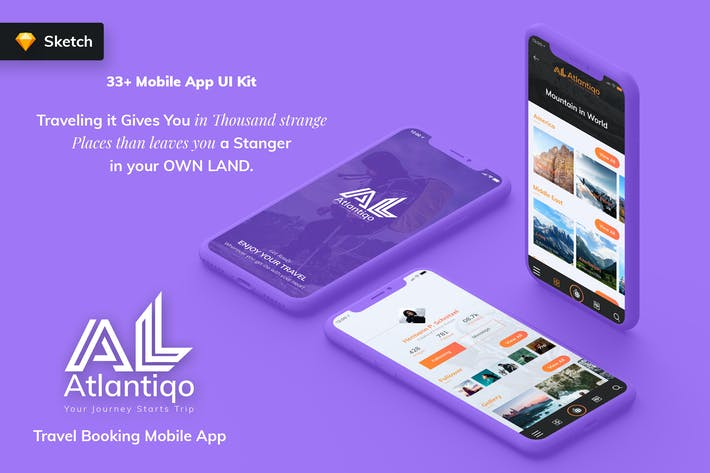 Thumbnail for Atlantigo-Travel & Flight Booking MobileApp SKETCH