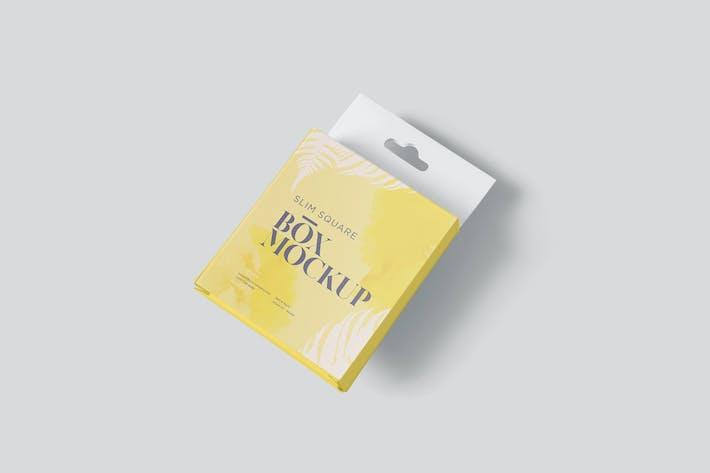 Thumbnail for Box Mockup Set - Slim Square Size with Hanger