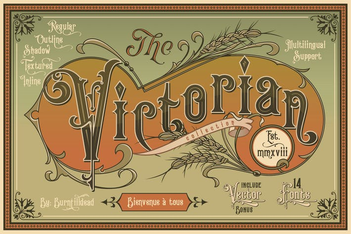 Thumbnail for Victorian Fonts Collection