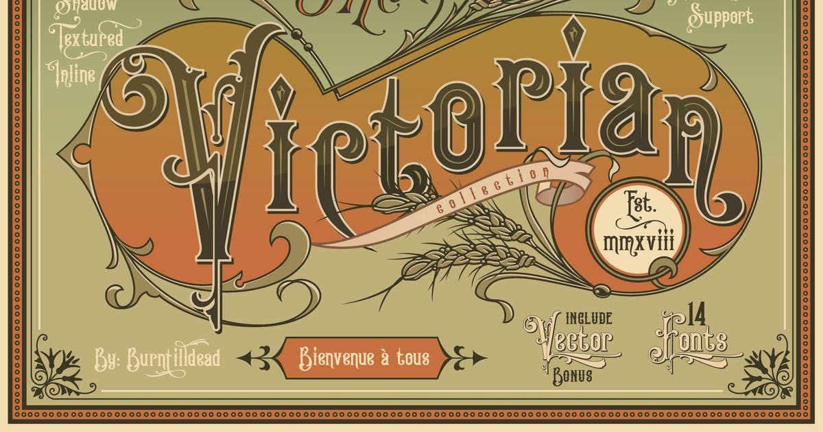 Download Victorian Fonts Collection by Eric_Burntilldead