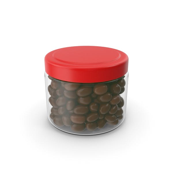 Chocolate Peanuts Jar No Label