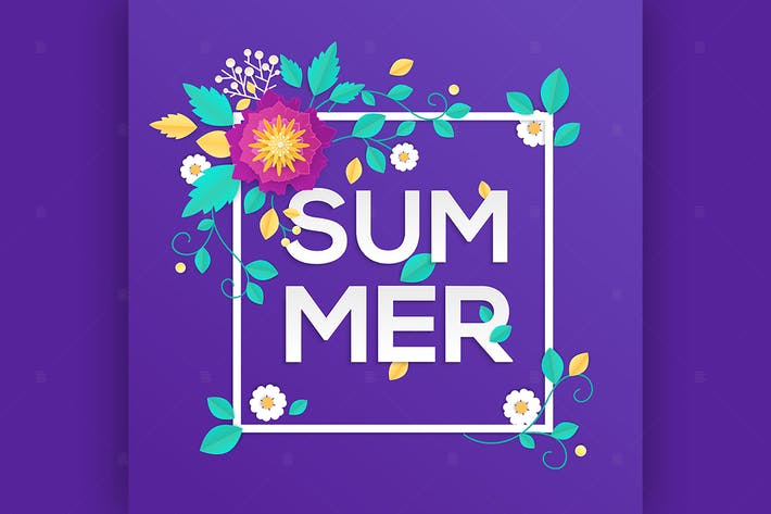 Thumbnail for Summer - modern vector colorful illustration