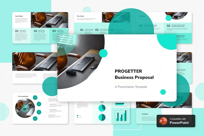 Thumbnail for PROGETTER - Business PowerPoint Template