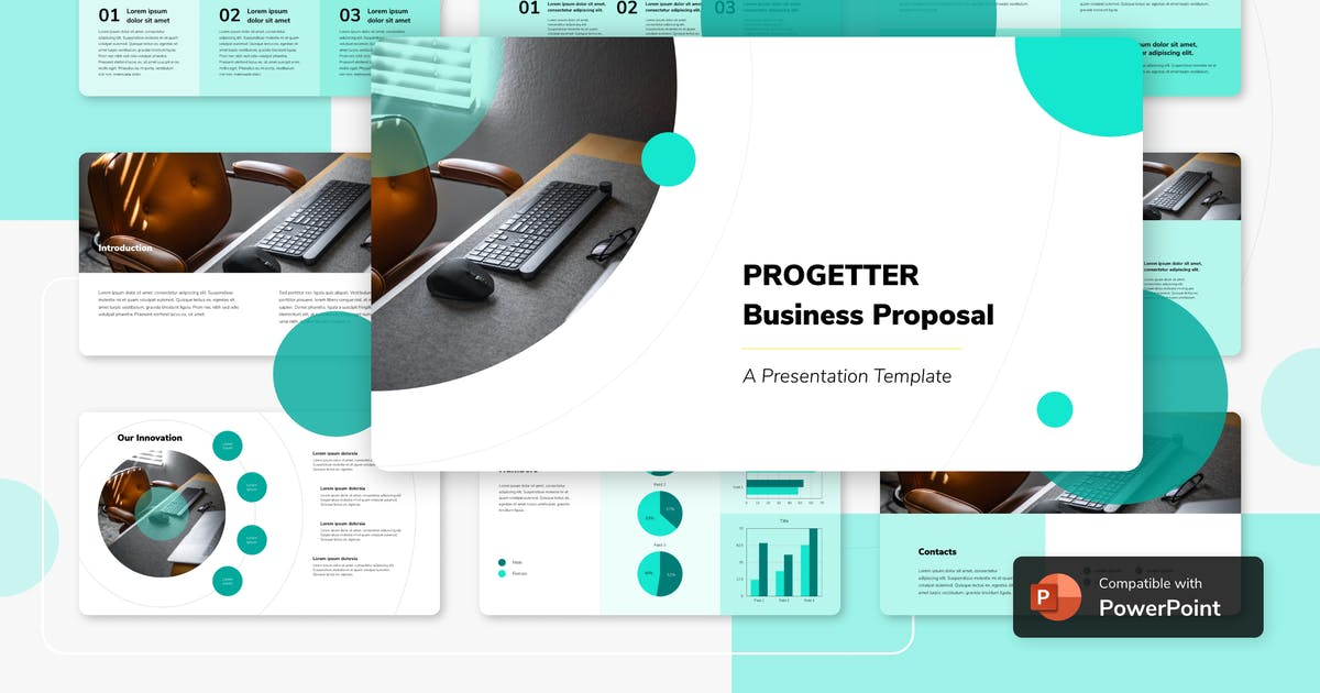 Download PROGETTER - Business PowerPoint Template by inipagi