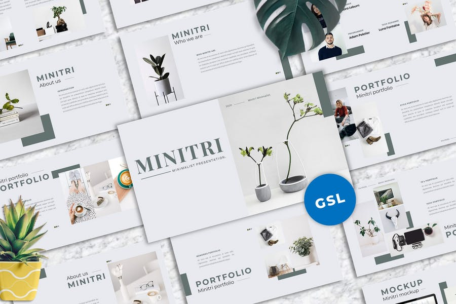 Minitri - Creative Googleslide Template