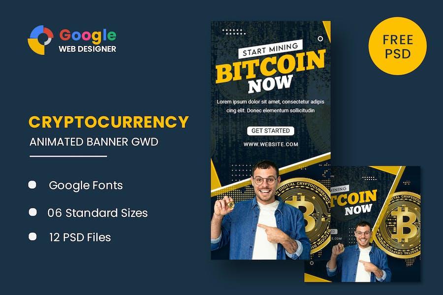 Bit Coin Animated Banner Google Web Designer