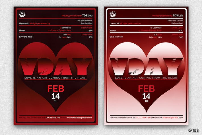 Thumbnail for Valentines Day Flyer Template V11