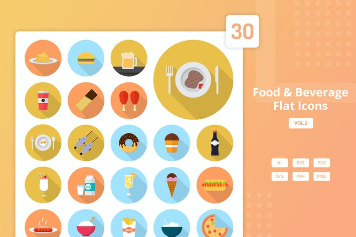 Essen & Trinken - Flat Icons Vol.2