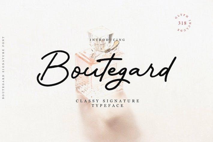 Thumbnail for Boutegard Classy Signature Font