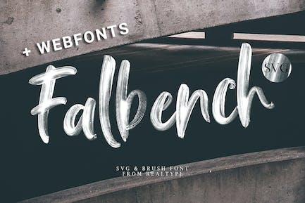 Falbench Pinceau + Webfont & SVG