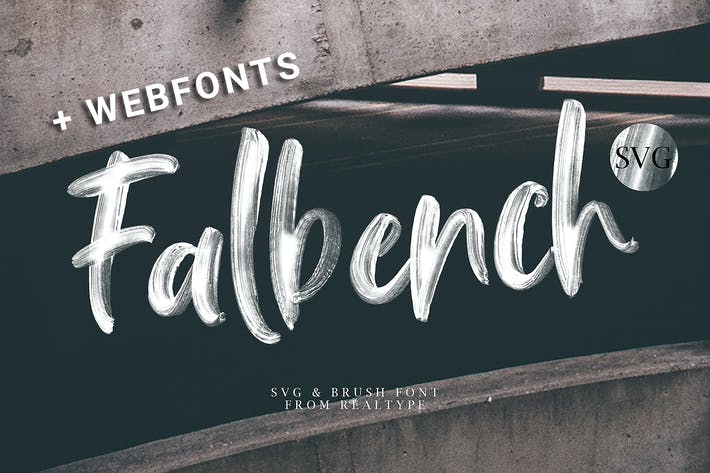 Thumbnail for Falbench Brush + Webfont & SVG