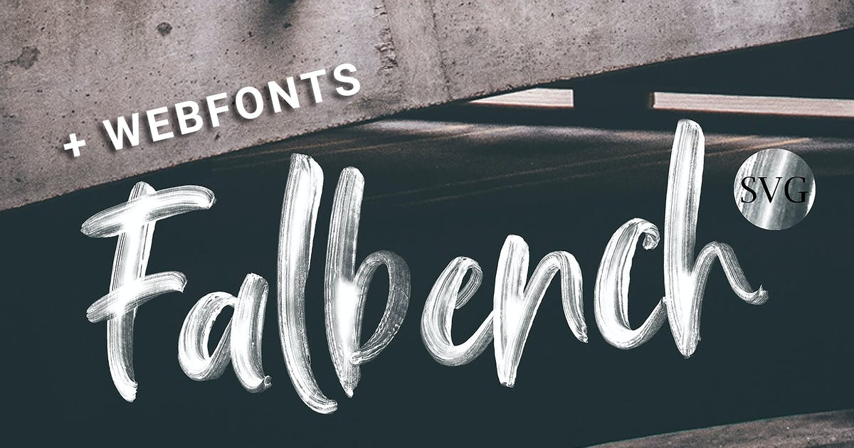 Download Falbench Brush + Webfont & SVG by Siwox