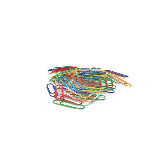 Colored Paper Clips Stack