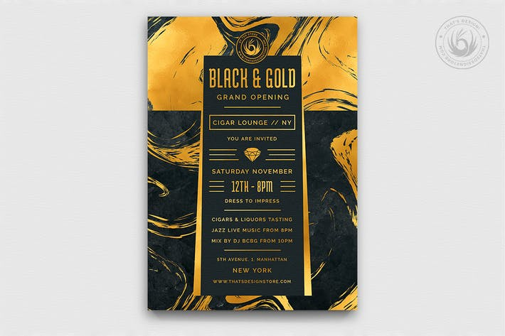 Thumbnail for Black and Gold Flyer Template V12