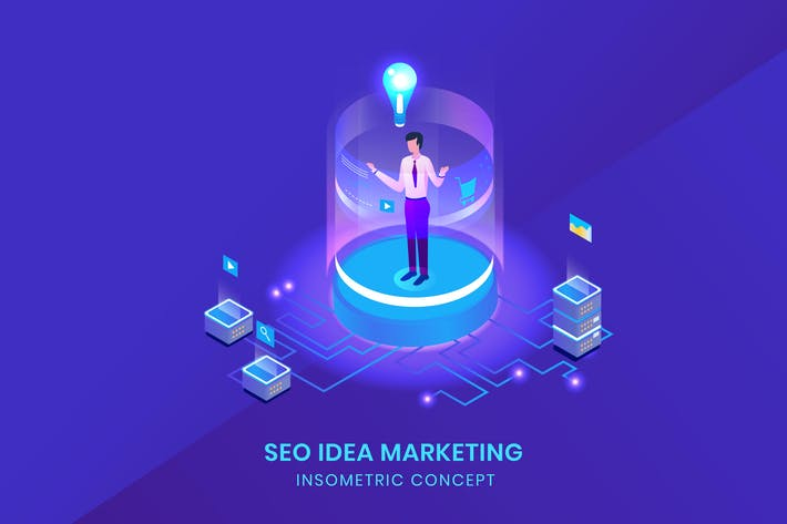 Thumbnail for Seo Idea Marketing - Isometric Vector