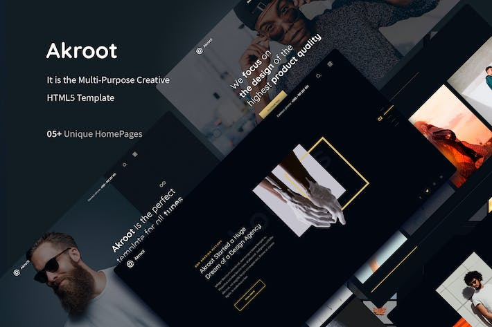 Thumbnail for Akroot | It is the Multi-purpose Creative HTML5