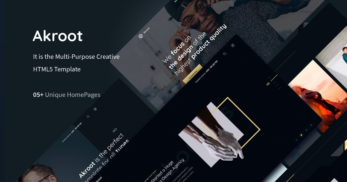 Download Akroot   It is the Multi-purpose Creative HTML5 by TexTheme