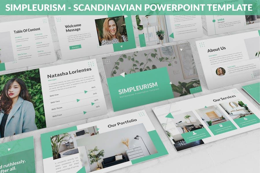 Simpleurism - Scandinavian Powerpoint Template