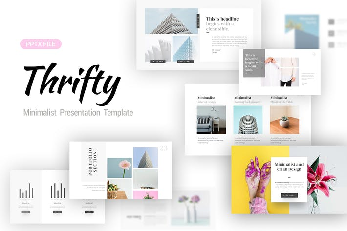 Thumbnail for Thrifty Minimalist Presentation Template