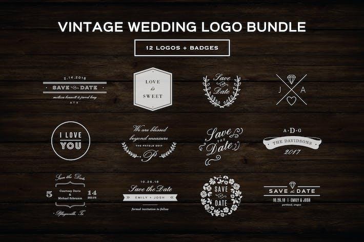 Thumbnail for Vintage Wedding Logos