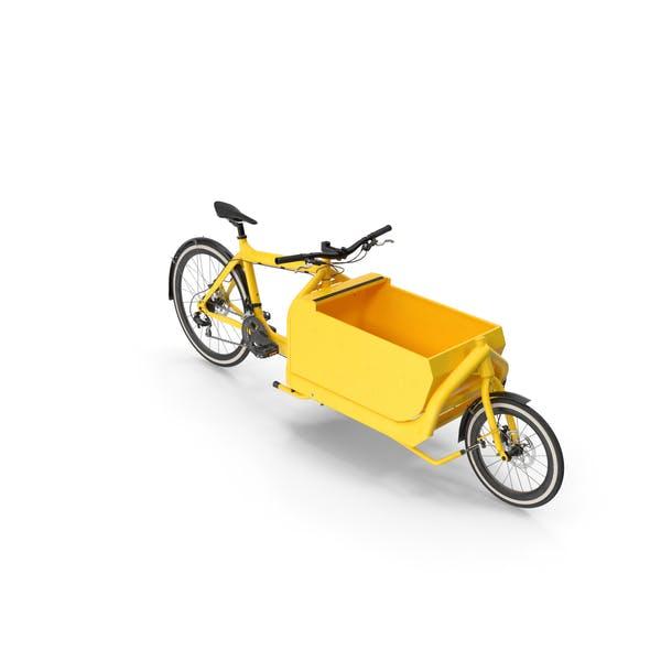 Cargo Bike with Metal Box Opened