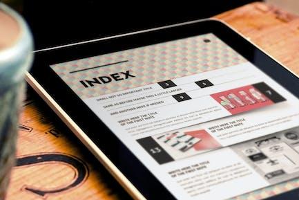 Design Magazine 5 for Tablet Indesign Template