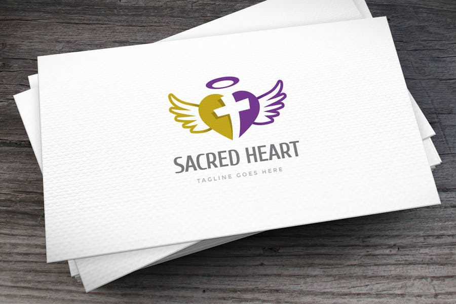 Sacred Heart Logo Template