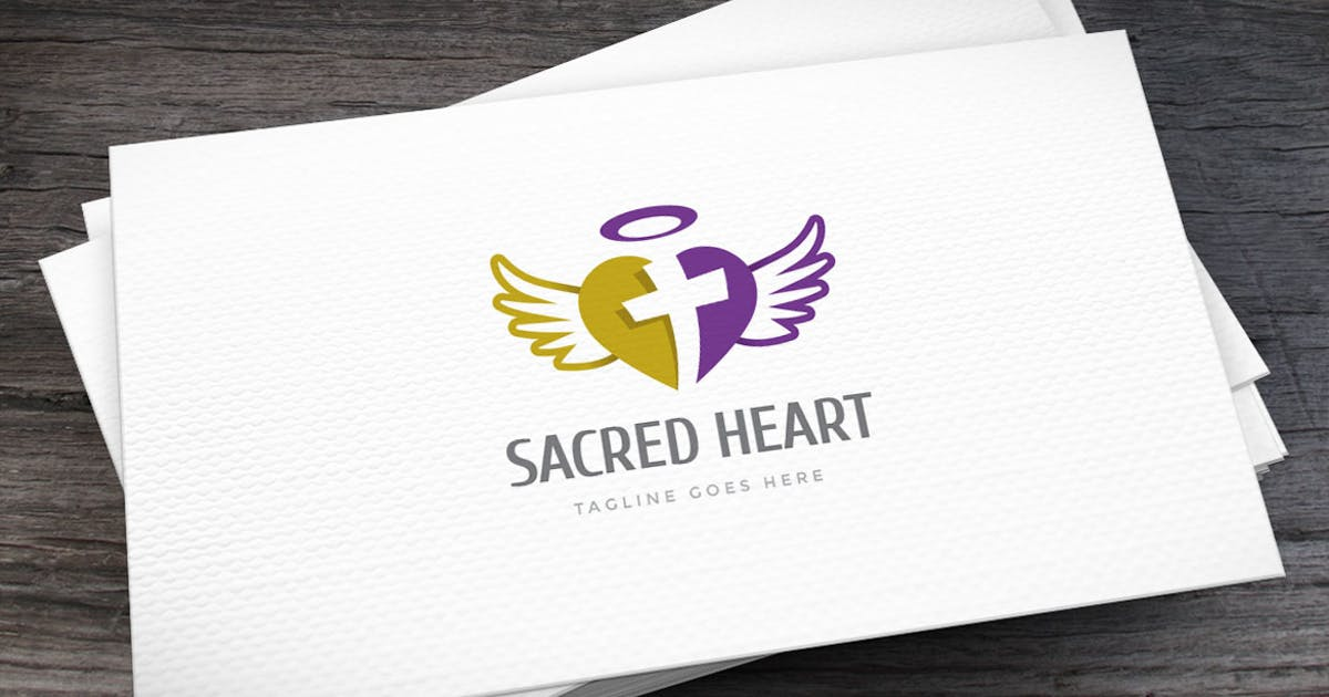 Download Sacred Heart Logo Template by empativo