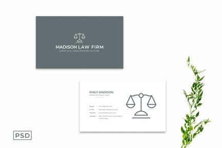 Simple Minimal Business Card Template Vol. 3