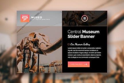 Museo - Premium Web Page Hero Banner